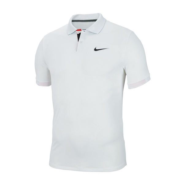 Nike Court Breathe Advantage Polo (Men's) - White/Off Noir