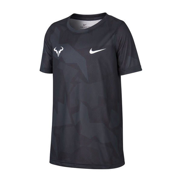 Nike Court Dri-Fit Rafa T-Shirt (Boy's) - White/Black/Anthracite