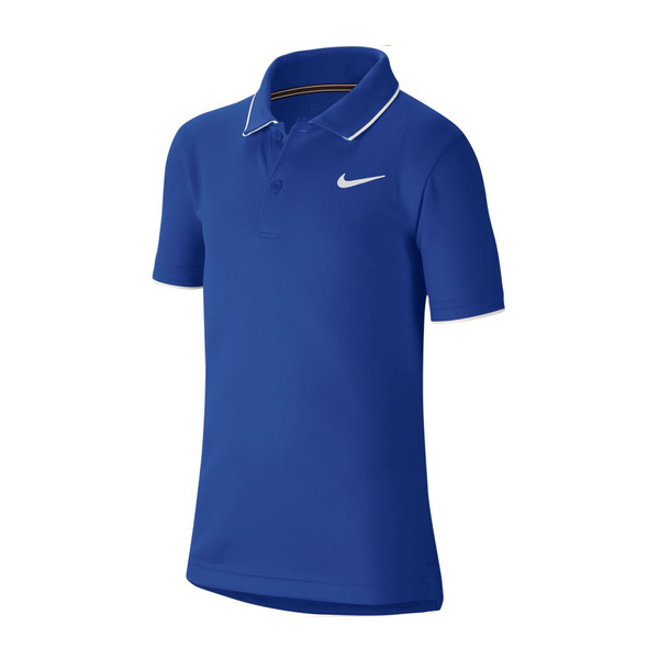 Nike Court Dri-Fit Tennis Polo (Boy's) - Game Royal/White