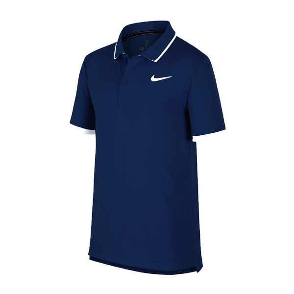 Nike Court Dri-Fit Tennis Polo (Boy's) - Obsidian/White