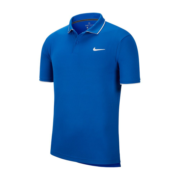 Nike Court Dri-Fit Tennis Polo (Men's) - Game Royal/White