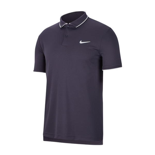 Nike Court Dri-Fit Tennis Polo (Men's) - Gridiron/White