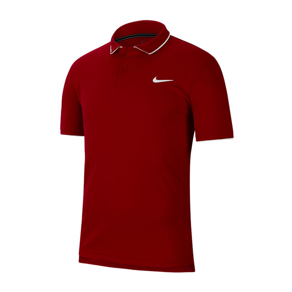 Nike Court Dri-Fit Tennis Polo (Men's) - Gym Red/White