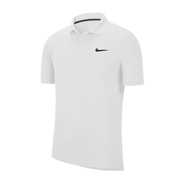 Nike Court Dri-Fit Tennis Polo (Men's) - White/Black