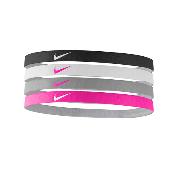 Nike Girl's Assorted Headbands (4 pack) - Pink/Grey/White/Black-Headbands-online tennis store canada