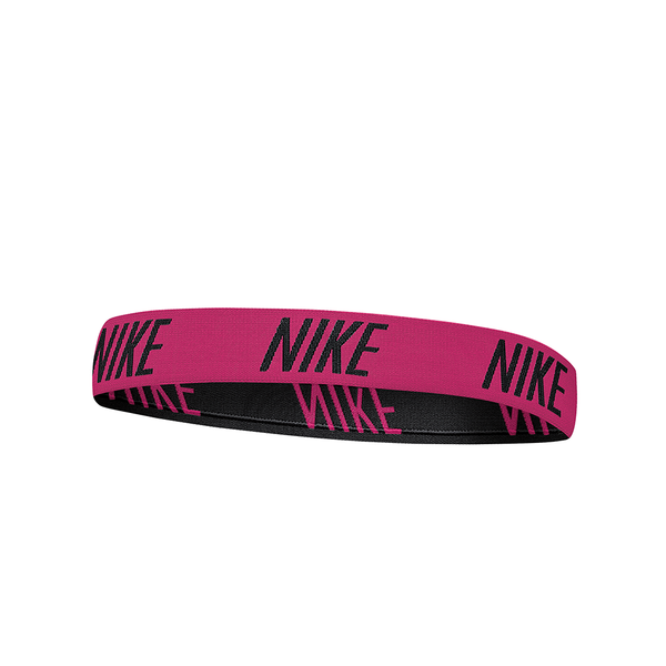 Nike Logo Hairband - Pink/Black-Headbands-online tennis store canada