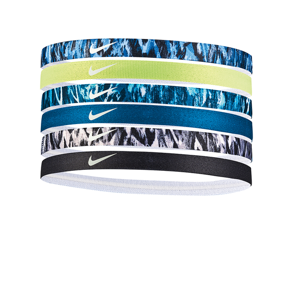 Nike Printed Headbands Assorted (6 pack) - Volt/Forest/Black-Headbands-online tennis store canada
