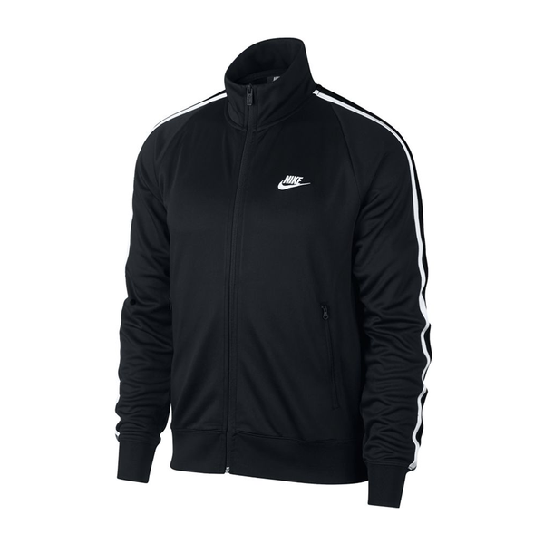 Nike Sportswear N98 Knit Warm-Up Jacket (Men's) - Black/White-Tops-online tennis store canada