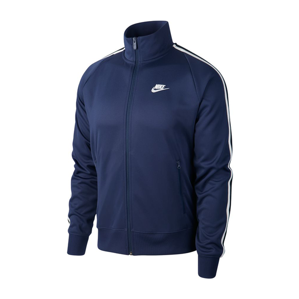Nike Sportswear N98 Knit Warm-Up Jacket (Men's) - Midnight Navy/White