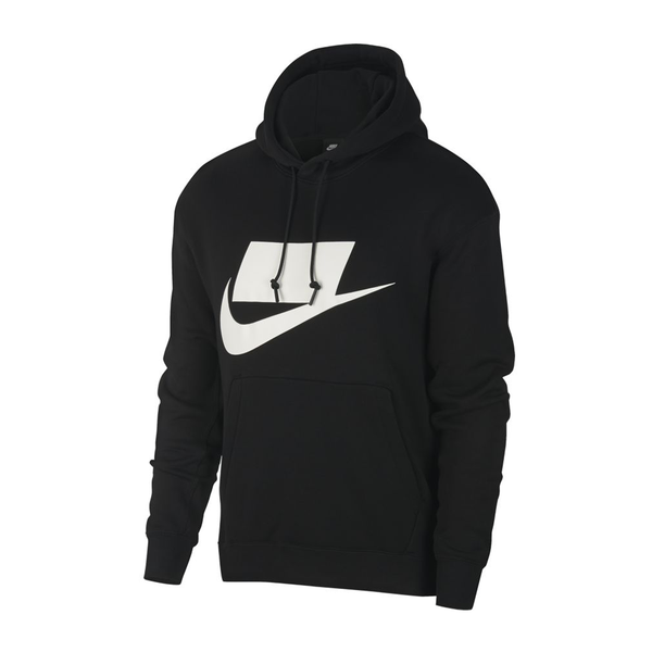 Nike Sportswear NSW French Terry Pullover Hoodie (Men's) - Black/White-Tops-online tennis store canada