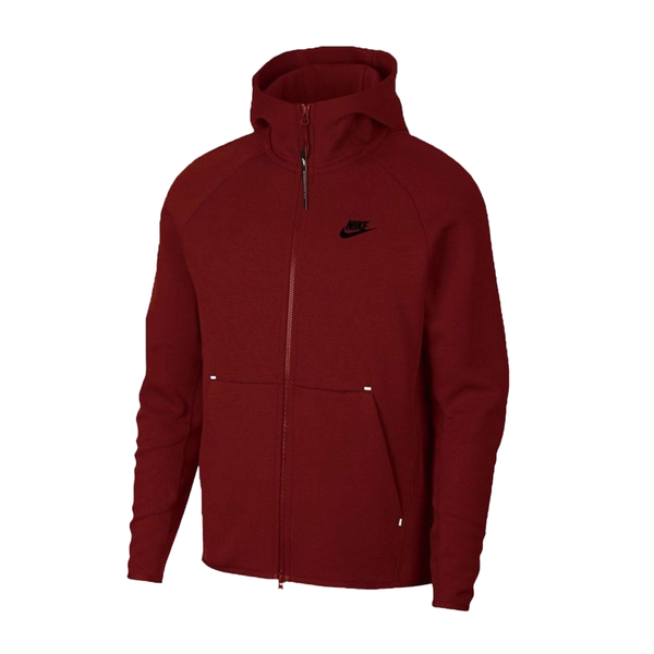 Nike Sportswear Tech Fleece Jacket (Men's) -  Team Red/Black