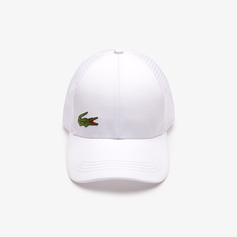 Lacoste Sport Mesh Panel Tennis Cap (Men's) - White