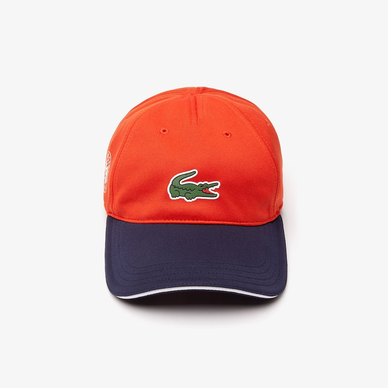 Lacoste Sport Color Block Roland Garros Edition Tennis Cap (Men's) - Orange/Navy Blue/White