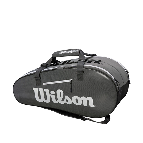 Wilson Super Tour 2 Compartment Large 9 Pack Bag - Black/Grey-Bags-online tennis store canada