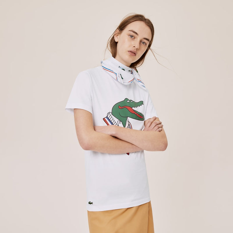 Lacoste x Jean-Michel Tixier Graphic Tennis T-shirt (Men's) - White/Red