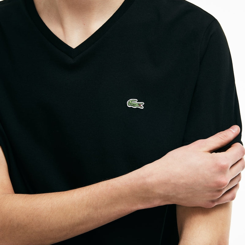 Lacoste V-Neck Pima Cotton T-shirt (Men's) - Black