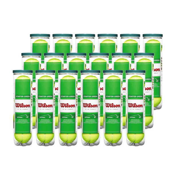 Wilson Starter Green Tennis Ball - Case (18 Cans / 72 Balls)