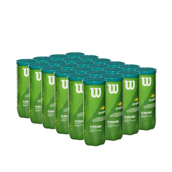 Wilson Us Open Green Tournament Transition Tennis Ball - Case (24 Cans / 72 Balls)