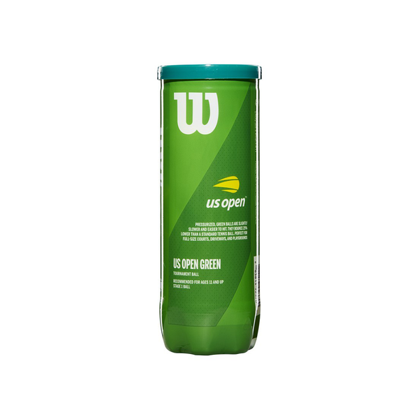 Wilson Us Open Green Tournament Transition Tennis Ball - Individual Can (3 Balls)