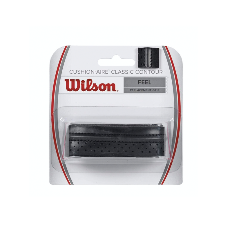 Wilson Cushion-Aire Classic Contour Replacement Grip - Black-Grips-online tennis store canada
