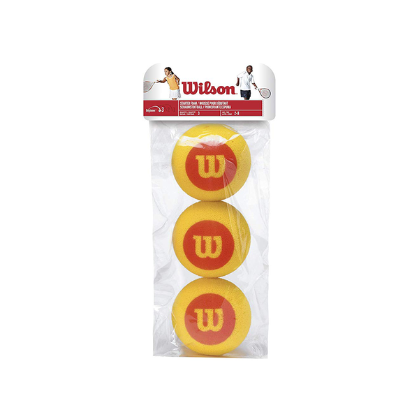 Wilson Foam Tennis Ball - Individual Pack (3-Balls)