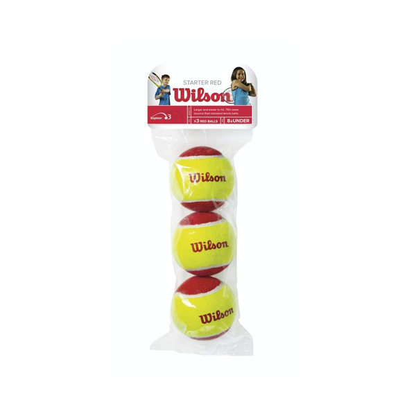 Wilson Starter Red Tennis Ball - Individual Pack (3-Balls)