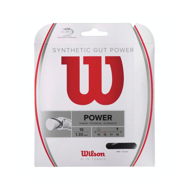 Wilson Synthetic Gut Power 16 Pack - Black