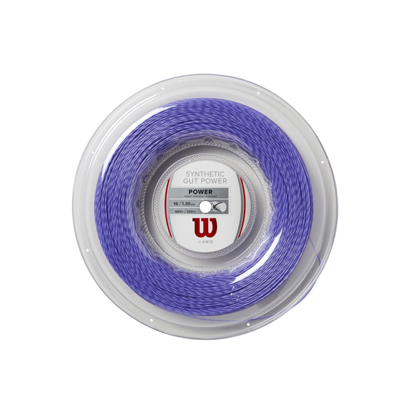 Wilson Synthetic Gut Power 16 Reel (200m) - Purple