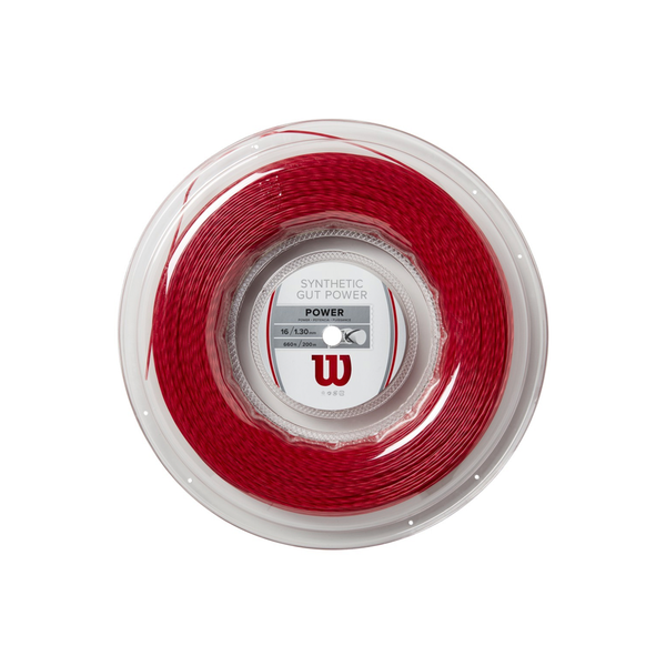 Wilson Synthetic Gut Power 16 Reel (200m) - Red