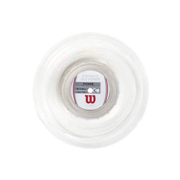 Wilson Synthetic Gut Power 16 Reel (200m) - White