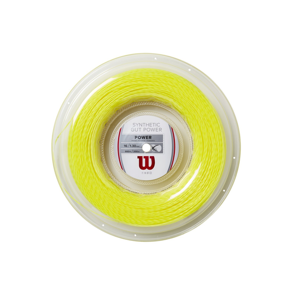 Wilson Synthetic Gut Power 16 Reel (200m) - Yellow