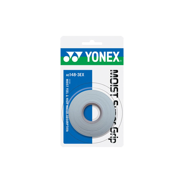 Yonex Moist Super Grip Overgrips (3-Pack) - White
