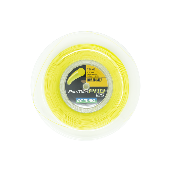 Yonex Poly Tour Pro 125 16L (200M) - Yellow-Tennis Strings-online tennis store canada