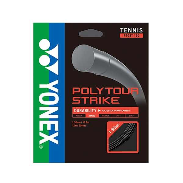 Yonex Poly Tour Strike 130 16 Pack - Black-Tennis Strings-online tennis store canada