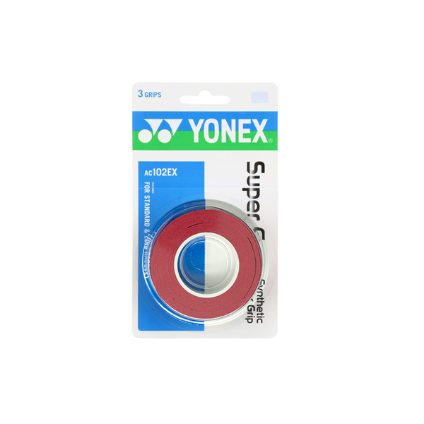 Yonex Super Grap Overgrips (3-Pack) - Red