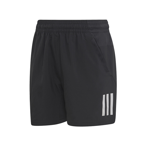 Adidas 3-Stripes Club Shorts (Boy's) - Black/White-Bottoms- Canada Online Tennis Store Shop