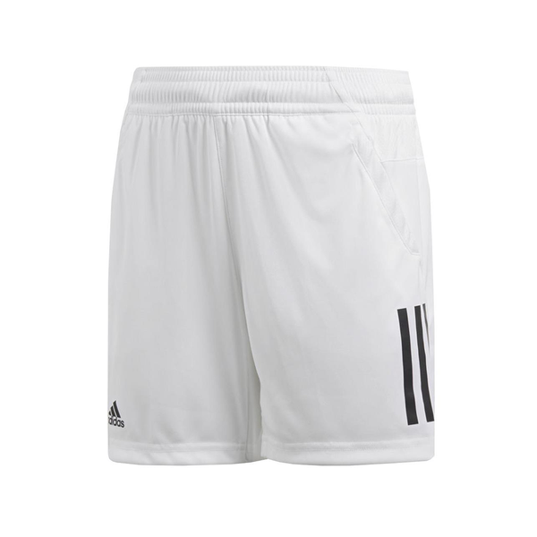 Adidas 3-Stripes Club Shorts (Boy's) - White/Black-Bottoms- Canada Online Tennis Store Shop