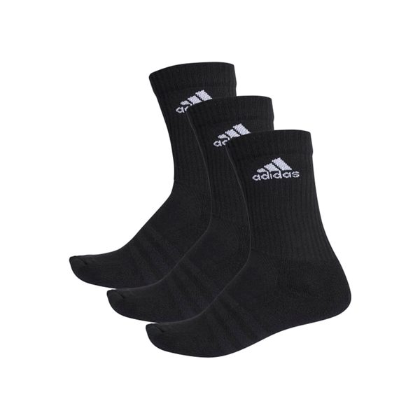 Adidas 3-Stripes Performance Crew Sock (3-Pack) - Black-Socks- Canada Online Tennis Store Shop