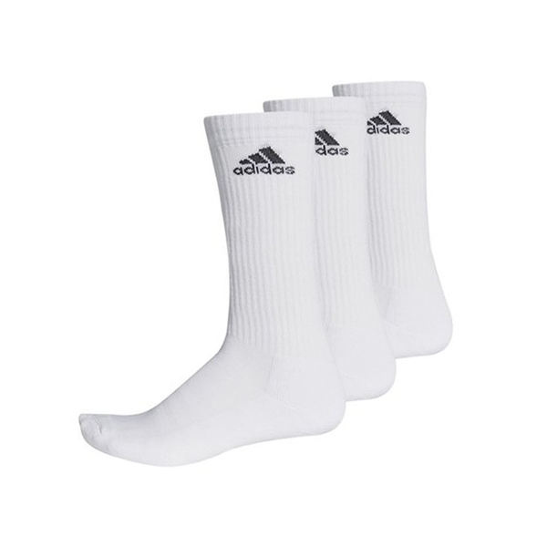 Adidas 3-Stripes Performance Crew Sock (3-Pack) - White-Socks- Canada Online Tennis Store Shop