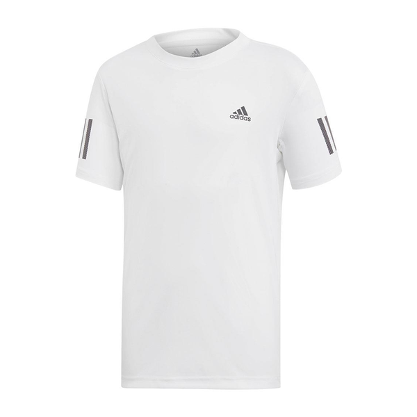 Adidas Club 3-Stripe (Boy's) - White/Black-Tops- Canada Online Tennis Store Shop