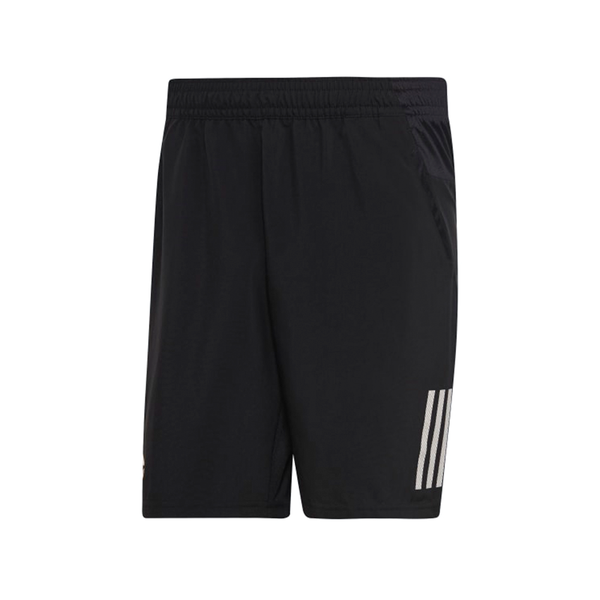 Adidas Club 3 Stripe Short (Men's) - Black/White-Bottoms- Canada Online Tennis Store Shop