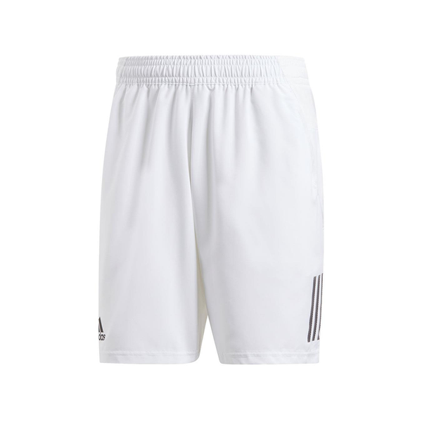 Adidas Club 3 Stripe Short (Men's) - White/Black-Bottoms- Canada Online Tennis Store Shop