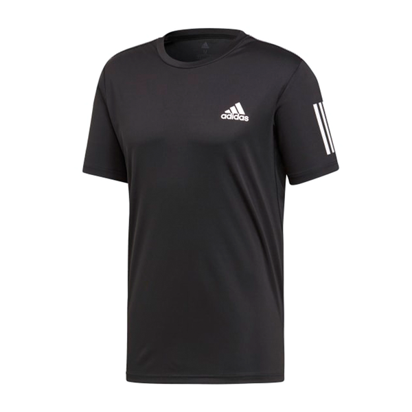 Adidas Club 3 Stripe Tee (Men's) - Black/White-Tops- Canada Online Tennis Store Shop