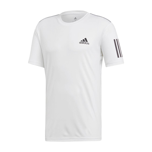 Adidas Club 3 Stripe Tee (Men's) - White/Black-Tops- Canada Online Tennis Store Shop