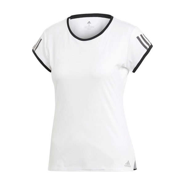 Adidas Club 3 Stripe Tee (Women's) - White-Tops- Canada Online Tennis Store Shop