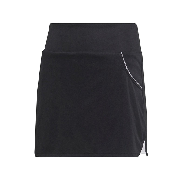 Adidas Club Skirt (Girl's) - Black/White-Bottoms- Canada Online Tennis Store Shop