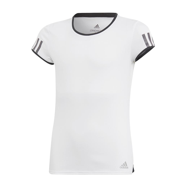 Adidas Club Tee (Girl's) - White/Black-Tops- Canada Online Tennis Store Shop