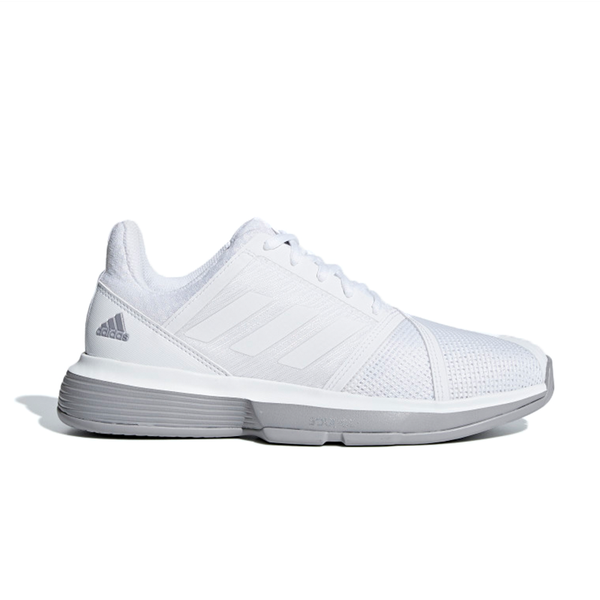 Adidas CourtJam Bounce (Women's) - White/Light Granite-Footwear- Canada Online Tennis Store Shop