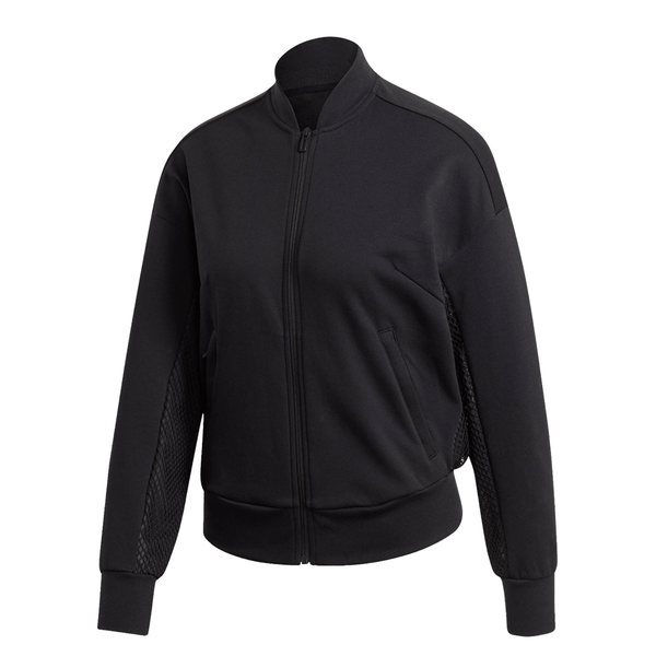 Adidas ID Mesh Bomber Jacket (Women's) - Black-Tops- Canada Online Tennis Store Shop