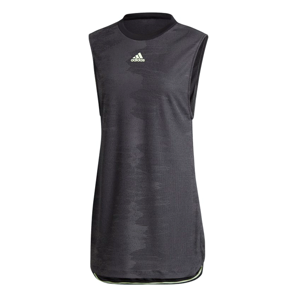 Adidas New York Dress (Women's) - Black/Glow Green-Dresses- Canada Online Tennis Store Shop